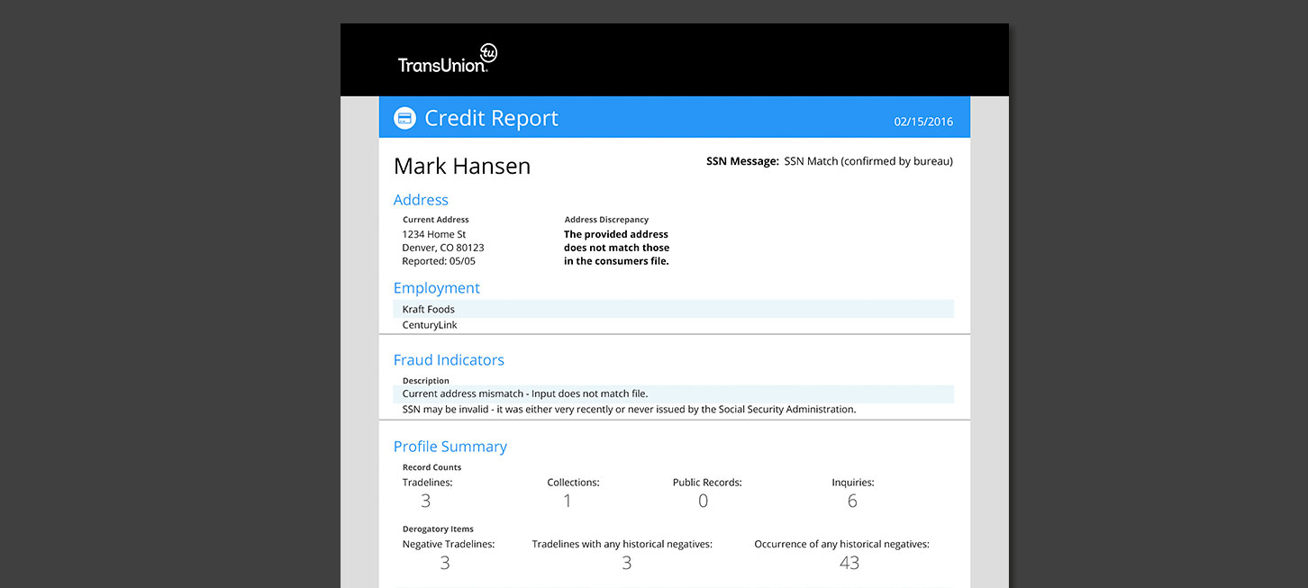 SmartMove Credit Report